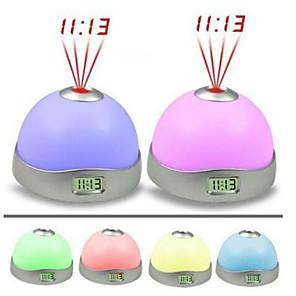 cheap Alarm Clocks-Colorful Projection Clock Star Sky Night Light LED Magic Digital Starry Alarm Clock Time Home Table Decoration