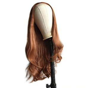 cheap Synthetic Lace Wigs-Synthetic Lace Front Wig Wavy Middle Part Lace Front Wig Blonde Long Orange Synthetic Hair 18-26 inch Women's Cosplay Soft Adjustable Blonde