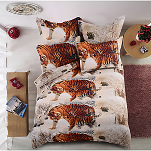 cheap Duvet Covers-Duvet Cover Sets Animal Polyester / Polyamide Printed 6 PieceBedding Sets