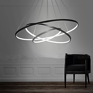 cheap Flush Mounts & Semi Flush Mounts-Lightinthebox 3-Light 80/60/40 cm LED Pendant Light Metal Acrylic Circle Painted Finishes Modern Contemporary 110-120V / 220-240V