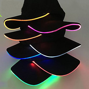 cheap Videogame Cosplay Accessories-Unisex Solid Color LED Luminous Baseball Hat Christmas Party Peaked Cap