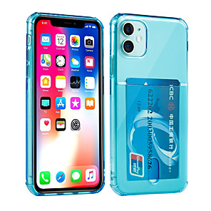cheap iPhone Cases-Case For Apple iPhone 11 / iPhone 11 Pro / iPhone 11 Pro Max Card Holder / Shockproof Back Cover Solid Colored TPU