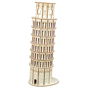 cheap Building Blocks-1 pcs Famous buildings 3D Puzzle Wooden Puzzle Wooden Model Metal Kid's Adults' Toy Gift