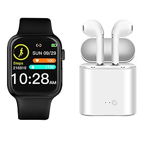 cheap Smartwatches-P35 Smartwatch BT Fitness Tracker with Wireless earphone Support Heart Rate/ Blood Pressure Measurement for Apple/Samsung Android Phones