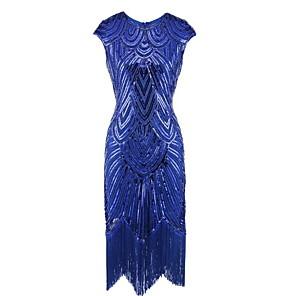 cheap Historical & Vintage Costumes-Dance Costumes Dress Tassel Paillette Women's Performance Sleeveless Terylene
