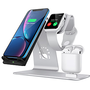 cheap Wireless Chargers-10 W 3 in 1 Wireless Chargers / Wireless Charger USB Charger USB Wireless Charger 1 USB Port 2 A / 1.67 A DC 9V / DC 5V for Apple Watch Series 4/3/2/1 iPhone 11 / iPhone 11 Pro / iPhone 11 Pro Max