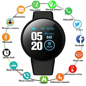 cheap Smartwatches-D18 Unisex Smartwatch Android iOS Bluetooth Touch Screen Heart Rate Monitor Sports ECG+PPG Pedometer Call Reminder Sleep Tracker Sedentary Reminder