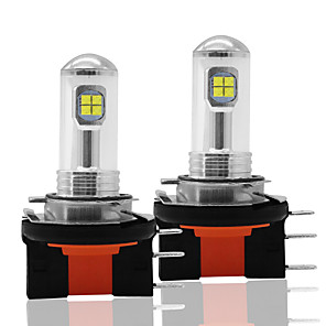 cheap Car Headlights-2pcs CAR Car LED h15 8SMD 2525 Fog Lights Bulbs 12V DRL Daytime Running Auto Reversing Lamp Bulbs 6000K Side Lights White