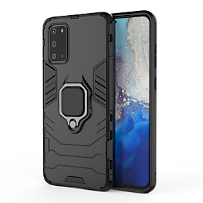 cheap Samsung Case-Case For Samsung Galaxy 20 / S20 Plus / S20 Ultra Ring Holder Back Cover Solid Colored TPU / PC / Metal  For Samsung Galaxy S10/S10 Plus /S10E
