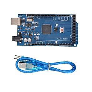 cheap Modules-MEGA 2560 R3 ATmega2560 MEGA2560 Development Board With USB Cable  for Arduino