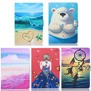cheap iPad case-Case For Apple iPad Mini 3/2/1 / iPad Mini 4 / iPad Mini 5 Card Holder / Shockproof Full Body Cases Scenery / Cartoon TPU