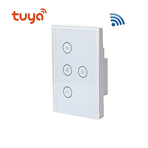 cheap Security Sensors-US regulations / fan light WIFI switch / TUYA Smart / Home remote control support Alexa/Living Room / Study / Bedroom LED Light / Touch Switch / Wireless use Wireless 100-240 V