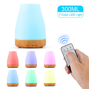 cheap Smart Home-aroma diffuser 300ml humidifier Ultrasonic fragrance lamp Atomization Electric diffuser with 7 colors LED Essential oils Humidifier for home yoga office SPA bedroom