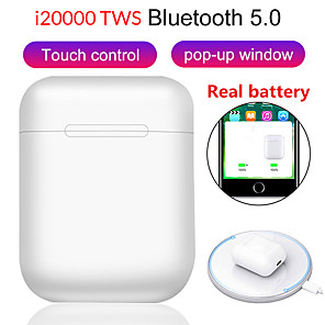 cheap Wired Earbuds-LITBest i20000 tws TWS True Wireless Earbuds Wireless Earbud Bluetooth 5.0 Noise-Cancelling Stereo Dual Drivers