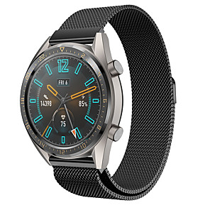 cheap Smartwatch Bands-Huawei watch Milanese Strap for Watch GT 46mm / GT2 46mm / GT active / watch GT / honor magic /watch 2 pro Sport Band High-end Fashion comfortable Health Milanese Loop Stainless Steel Wrist Strap 22MM