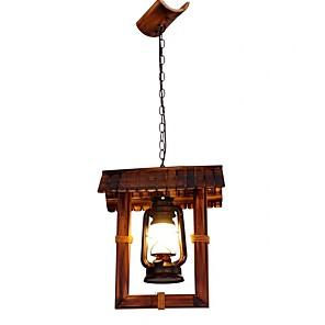 cheap Dimmable Ceiling Lights-1-Light QIHengZhaoMing 15 cm Eye Protection Pendant Light Wood / Bamboo Wood / Bamboo Vintage 110-120V / 220-240V