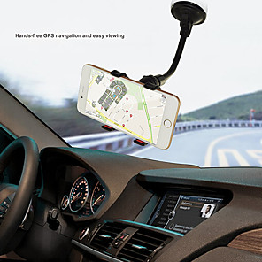 cheap Phone Mounts & Holders-Universal 360 Rotating Windshield Car Sucker Mount Bracket For iPhone 6 XR 7 X XS Samsung S10 Plus S7 GPS Car Phone Holder Stand