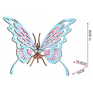 cheap 3D Puzzles-Butterfly 3D Puzzle Jigsaw Puzzle Wooden Puzzle Wooden Model Wood Kid's Adults' Toy Gift
