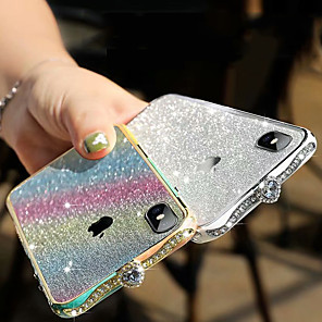 cheap iPhone Cases-iPhone 11Pro Max Diamond Metal Phone Case XS Max Luxury Glitter Pink Gradient Rhinestone 6/7 / 8Plus Metal Protective Protective Case