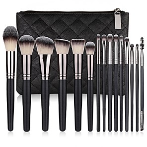 cheap Makeup Brush Sets-Professional Makeup Brushes 15pcs Soft Lovely Comfy Aluminium Alloy 7005 / Wooden / Bamboo for Concealer & Base Powders Foundation Blush Brush Makeup Brush Lip Brush Eyeshadow Brush