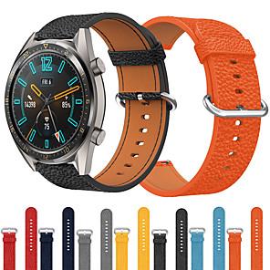 Χαμηλού Κόστους Smartwatch Bands-πολυτελή δερμάτινη ζώνη ρολογιών για huawei ρολόι gt 2 46mm / gt ενεργή / ρολόι 2 pro / honor μαγεία ανταλλακτικό βραχιόλι καρπό ιμάντα βραχιολάκι