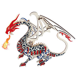 cheap 3D Puzzles-3D Puzzle Wooden Puzzle Dragon & Dinosaur Toy Wooden Kid's Adults' Unisex Boys' Girls' Toy Gift