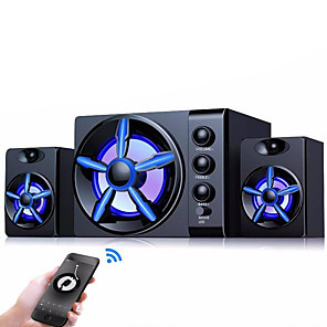 cheap Outdoor Speakers-Bluetooth Speakers Built-in Colorful LED 2.1 3 Channel Subwoofer Speaker USB Power Computer MP3 Cellphone Speakers