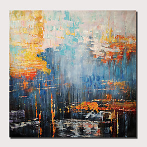 cheap Artificial Plants-Oil Painting Hand Painted - Abstract Landscape Comtemporary Modern Stretched Canvas