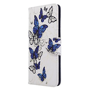 cheap Samsung Case-Case For Samsung Galaxy S20 Ultra / S20 Plus / S10 Plus Wallet / Card Holder / with Stand Full Body Cases Butterfly PU Leather Case For Samsung S9 / S9 Plus / S8 Plus / S10E /S7 Edge