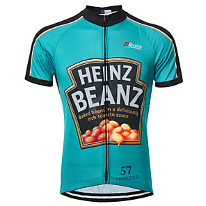 cheap Cycling Jerseys-21Grams Retro Novelty Men's Short Sleeve Cycling Jersey - Blue Bike Jersey Top Breathable Quick Dry Moisture Wicking Sports Terylene Mountain Bike MTB Road Bike Cycling Clothing Apparel / Race Fit