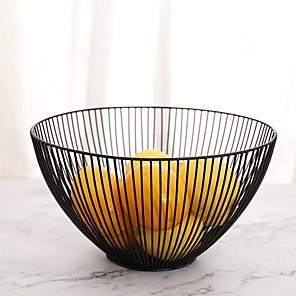 cheap Dinnerware-1-Piece Fruit Bowls & Baskets Dinnerware Metal Cool