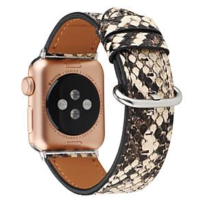 cheap Smartwatch Bands-Cool Snakeskin Print Watch Band for Apple Watch Series 4 / Apple Watch Series 3 / Apple Watch Series 2 Apple Sport Band Genuine Leather Wrist Strap