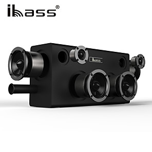 cheap Portable Speakers-IBASS GaGa Wooden Bluetooth Speaker 70W Car Outdoor Home 6-unit Speaker TV Computer Cell Phone Audio Compatible Coaxial AUX USB