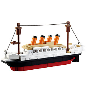 cheap Building Blocks-BEIQI Building Blocks Educational Toy Construction Set Toys Military Warship Plane / Aircraft Destroyer compatible Legoing DIY 6 in 1 Classic Chic & Modern Boat Boys' Girls' Toy Gift / Kid's