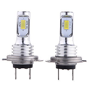cheap Car Fog Lights-2pcs H4 80W 3570 2SMD Car LED Fog Lamp White Gold Yellow Color Daytime Running LightTurning Parking Auto Driving DRL Lamp 12-24V