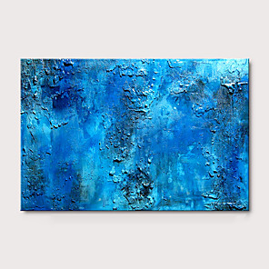 cheap Abstract Paintings-Oil Painting Hand Painted - Abstract Pop Art Modern Stretched Canvas