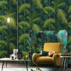 cheap Wall Stickers-Wallpaper Nonwoven Wall Covering - Adhesive required Floral / Botanical