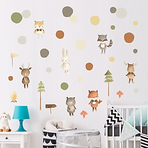 cheap Wall Stickers-Decorative Wall Stickers - Plane Wall Stickers / Animal Wall Stickers Animals / Floral / Botanical Nursery / Kids Room