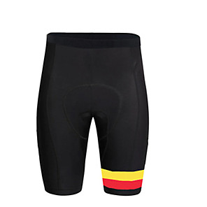cheap Cycling Jerseys-21Grams Men's Cycling Shorts Bike Pants / Trousers Bottoms Breathable 3D Pad Quick Dry Sports Belgium National Flag Black Mountain Bike MTB Road Bike Cycling Clothing Apparel Bike Wear / Stretchy