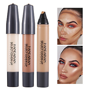 cheap Concealers & Contours-12 Colors 1 pcs Wet / Matte Long Lasting / Concealer / Uneven Skin Tone Lady / Cosmetic / Foundation # Matte / High Quality Waterproof / Portable / Women Party / Gift / Daily Wear Cream Makeup
