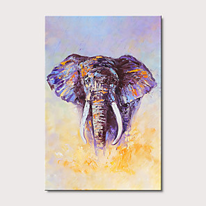 cheap Prints-Oil Painting Hand Painted Abstract Animals Modern Stretched Canvas With Stretched Frame