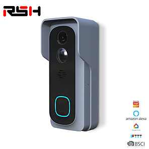 cheap Video Door Phone Systems-RSH Video Intercom Doorbell Wifi Smart Wireless Video Doorbell Telephone Ring 1080p Camera Night Vision Motion Detection Two-way Aud