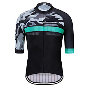 cheap Cycling Jersey & Shorts / Pants Sets-21Grams Men's Short Sleeve Cycling Jersey Gray+White Jacinth +Gray Gray+Green Camo / Camouflage Bike Jersey Top Mountain Bike MTB Road Bike Cycling UV Resistant Breathable Quick Dry Sports Clothing