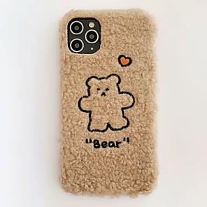 cheap iPhone Cases-Fashion iPhone 11 Pro Max Case Cute Bear Heart Plush Case Protective Flexible Soft TPU Case for Apple iPhone 11 Pro Max /  iPhone 7/ iPhone 8 / iPhone X