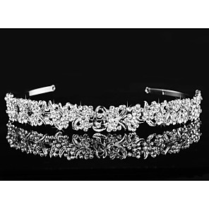 cheap Wedding Veils-Accent / Decorative Alloy Headpiece / Hair Accessory with Crystals / Rhinestones 1 Piece Wedding / Special Occasion Headpiece