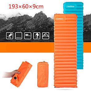 cheap Sleeping Bags & Camp Bedding-Naturehike Sleeping Pad Inflatable Sleeping Pad Air Pad Outdoor Camping Ultralight Portable Moistureproof Ultra Light (UL) Nylon 193*60*9 cm for 1 person Camping / Hiking Outdoor Autumn / Fall Spring