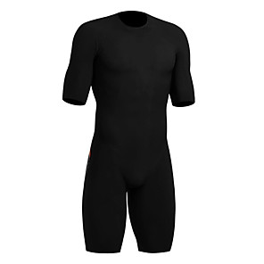 cheap Triathlon Clothing-21Grams Men's Short Sleeve Triathlon Tri Suit Black Bike Clothing Suit UV Resistant Breathable Quick Dry Sweat-wicking Sports Solid Color Mountain Bike MTB Road Bike Cycling Clothing Apparel