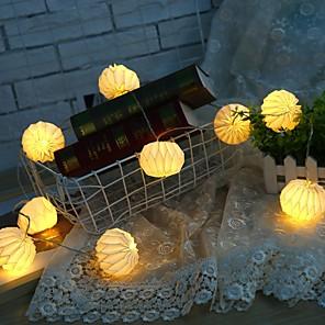cheap LED String Lights-1.5m String Lights 10 LEDs 1 set Warm White Decorative AA Batteries Powered