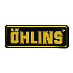 cheap Car Body Decoration & Protection-3D Aluminum Heat-resistant Motorcycle Exhaust Pipe Decal Sticker for OHLINS 5PCS Whole Sale