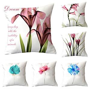 cheap Pillow Covers-6 pcs Throw Pillow Simple Classic 45*45 cm  Car Waist Pillow Sofa cushion cover flannelette printing creative Home Office cushion